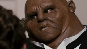 Strax, a comedy relief in the new Doctor Who. The Sontarans were created by Holmes in 1973 and were ruthless warriors. (www.tardis.wikia.com)